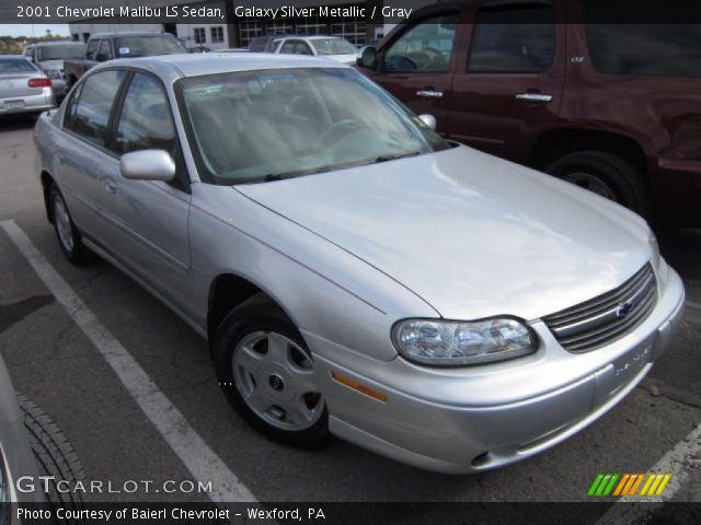 galaxy silver metallic 2001 chevrolet malibu ls sedan. Black Bedroom Furniture Sets. Home Design Ideas