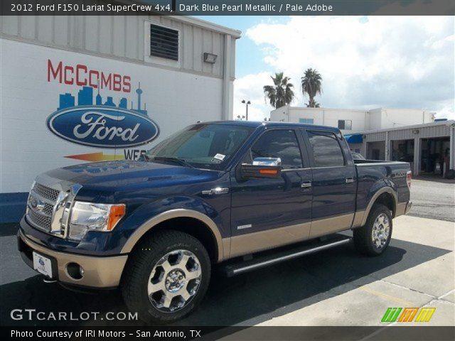 2012 Ford F150 Lariat SuperCrew 4x4 in Dark Blue Pearl Metallic