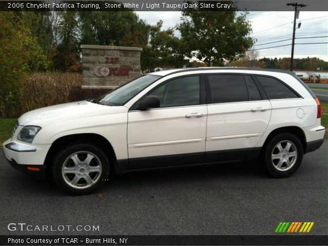 stone white 2006 chrysler pacifica touring with light taupe dark slate. Cars Review. Best American Auto & Cars Review