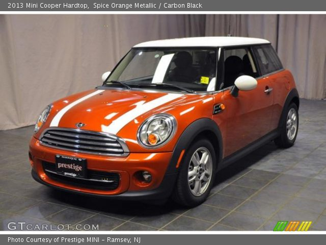 spice orange metallic 2013 mini cooper hardtop carbon black interior. Black Bedroom Furniture Sets. Home Design Ideas