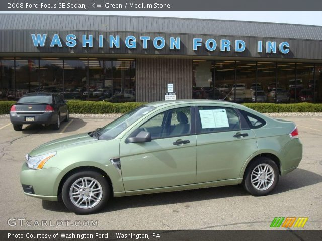 kiwi green 2008 ford focus se sedan medium stone interior vehicle archive. Black Bedroom Furniture Sets. Home Design Ideas