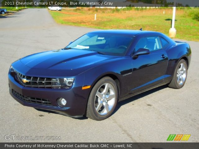 blue ray metallic 2013 chevrolet camaro lt coupe gray. Black Bedroom Furniture Sets. Home Design Ideas