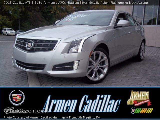 2013 Cadillac ATS 3.6L Performance AWD in Radiant Silver Metallic