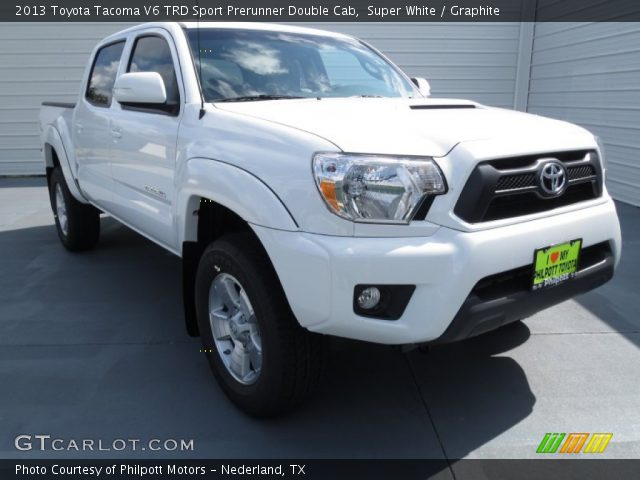 super white 2013 toyota tacoma v6 trd sport prerunner double cab graphite interior. Black Bedroom Furniture Sets. Home Design Ideas