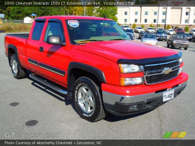 victory red 2006 chevrolet silverado 1500 lt extended cab 4x4 tan interior. Black Bedroom Furniture Sets. Home Design Ideas
