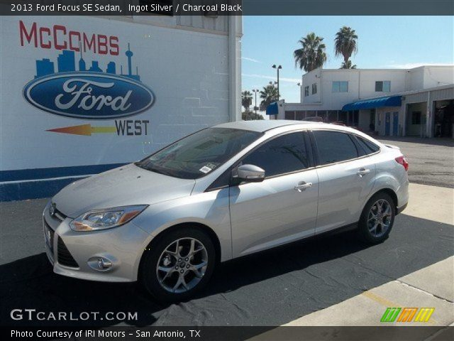 Ingot Silver - 2013 Ford Focus SE Sedan - Charcoal Black ...