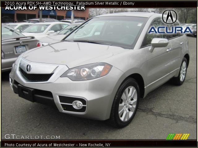 Palladium Silver Metallic 2010 Acura RDX SH-AWD Technology with Ebony ...