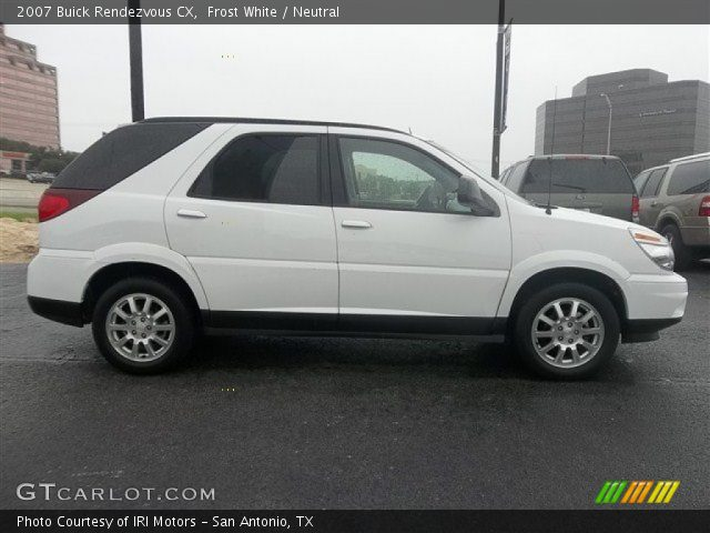 Frost white 2007 buick rendezvous cx neutral interior - Buick rendezvous interior dimensions ...
