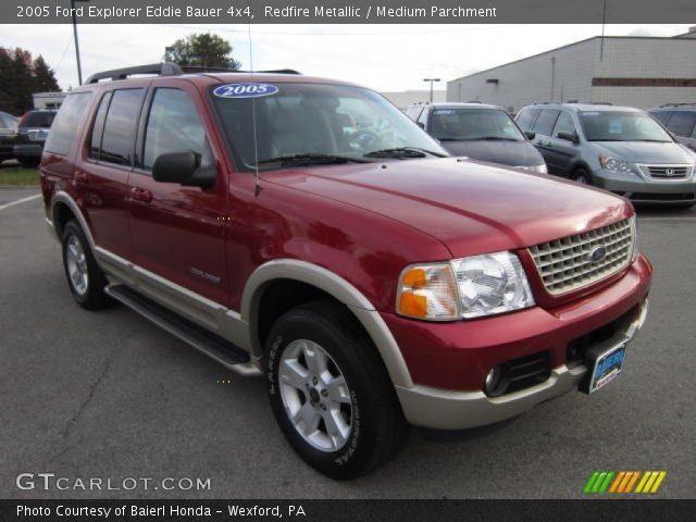redfire metallic 2005 ford explorer eddie bauer 4x4 medium parchment interior. Black Bedroom Furniture Sets. Home Design Ideas