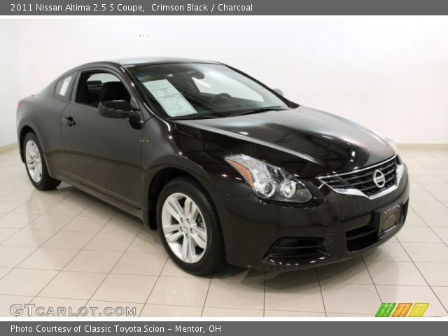 crimson black 2011 nissan altima 2 5 s coupe charcoal. Black Bedroom Furniture Sets. Home Design Ideas