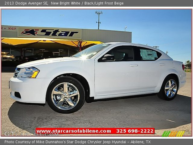 new bright white 2013 dodge avenger se black light. Black Bedroom Furniture Sets. Home Design Ideas