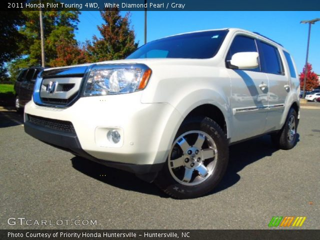 White Diamond Pearl 2011 Honda Pilot Touring 4wd Gray