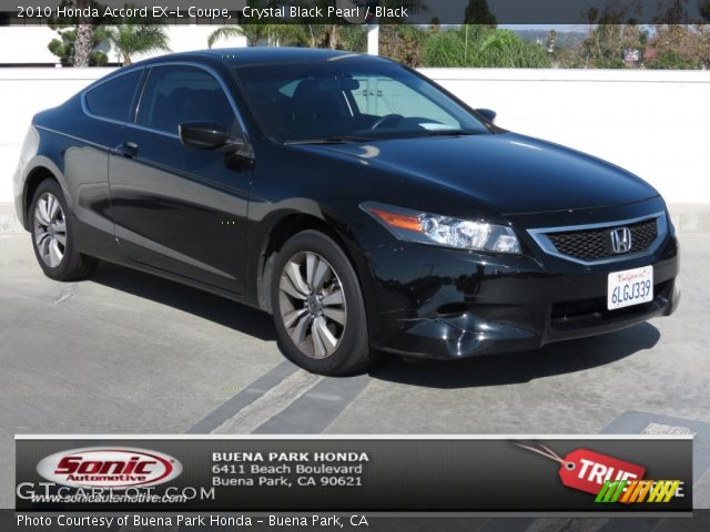 crystal black pearl 2010 honda accord ex l coupe black. Black Bedroom Furniture Sets. Home Design Ideas