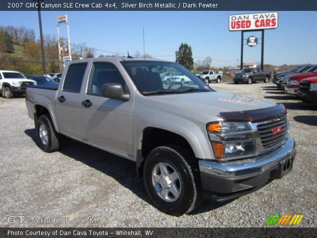 silver birch metallic 2007 gmc canyon sle crew cab 4x4. Black Bedroom Furniture Sets. Home Design Ideas