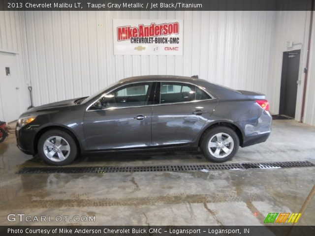 Taupe Gray Metallic 2013 Chevrolet Malibu Lt Jet Black Titanium Interior
