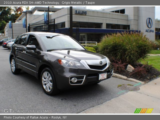 Grigio Metallic - 2010 Acura RDX SH-AWD Technology - Taupe Interior ...