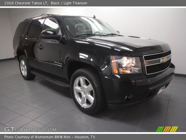 black 2009 chevrolet tahoe lt light titanium interior. Black Bedroom Furniture Sets. Home Design Ideas