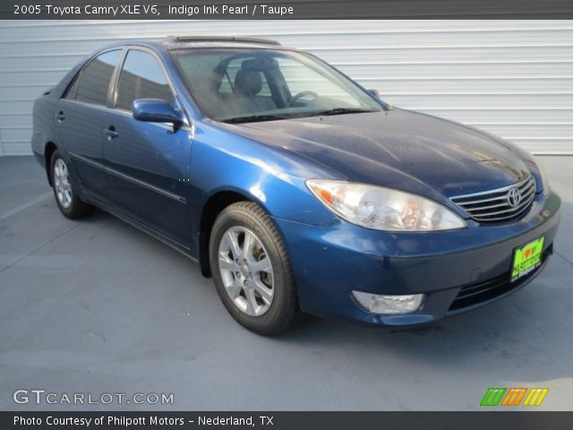 indigo ink pearl 2005 toyota camry xle v6 taupe interior vehicle archive. Black Bedroom Furniture Sets. Home Design Ideas