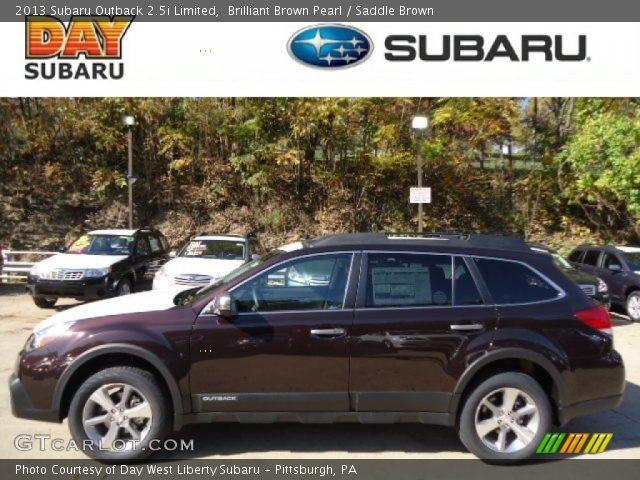 Brilliant Brown Pearl 2013 Subaru Outback 25i Limited Saddle