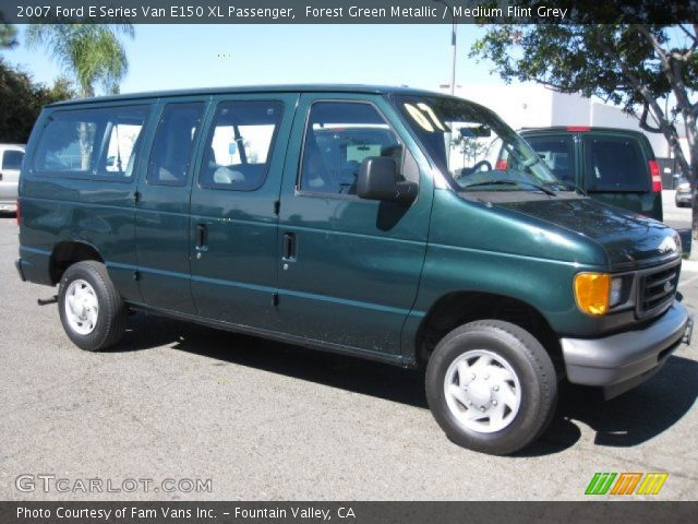 forest green metallic 2007 ford e series van e150 xl. Black Bedroom Furniture Sets. Home Design Ideas