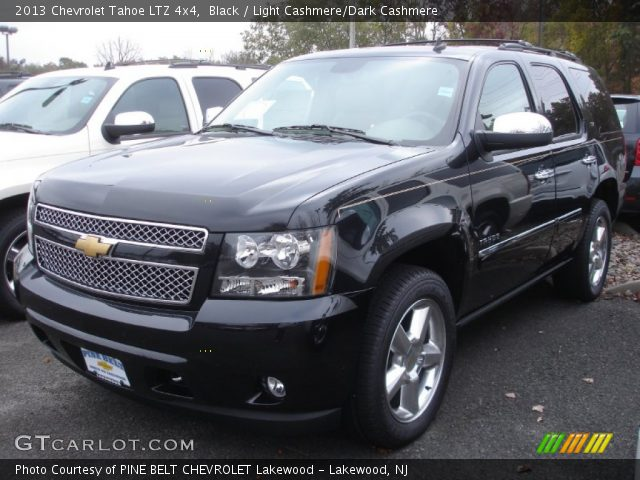 black 2013 chevrolet tahoe ltz 4x4 light cashmere dark cashmere interior. Black Bedroom Furniture Sets. Home Design Ideas