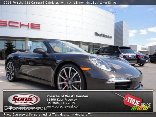 2013 Porsche 911 Carrera S Cabriolet in Anthracite Brown Metallic