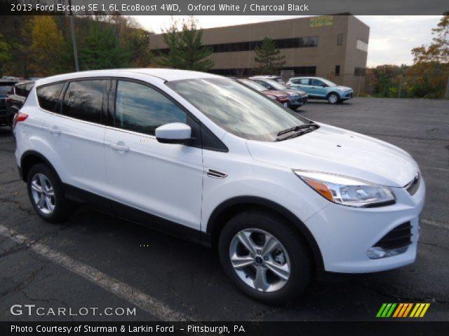 2013 Ford Escape Se 1 6l Ecoboost 4wd In White Platinum