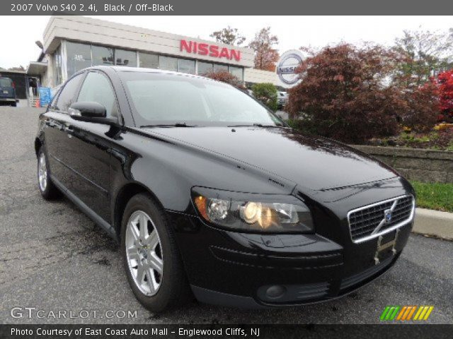black 2007 volvo s40 off black interior. Black Bedroom Furniture Sets. Home Design Ideas