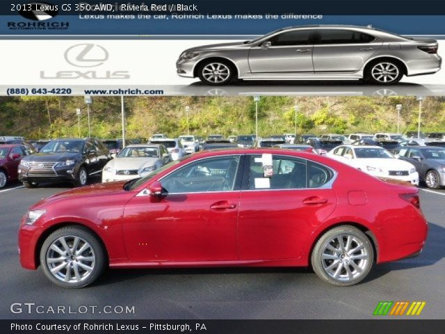 riviera red 2013 lexus gs 350 awd black interior vehicle archive 72656682. Black Bedroom Furniture Sets. Home Design Ideas