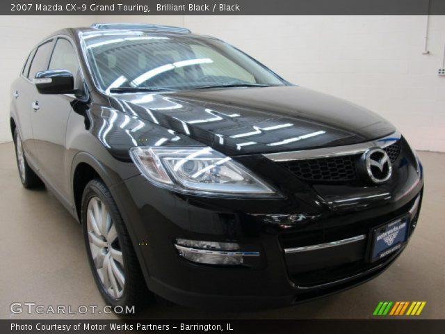 Brilliant Black 2007 Mazda Cx 9 Grand Touring Black Interior Vehicle