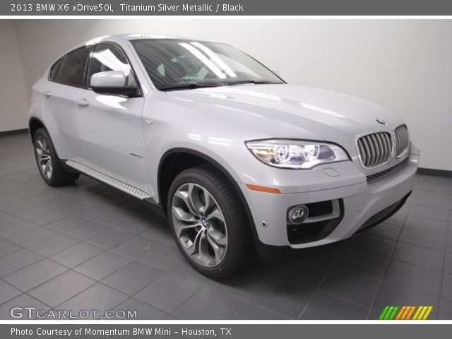 titanium silver metallic 2013 bmw x6 xdrive50i black. Black Bedroom Furniture Sets. Home Design Ideas
