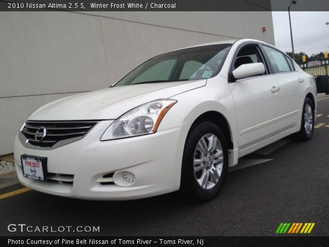 Winter Frost White 2010 Nissan Altima 2 5 S Charcoal Interior Vehicle