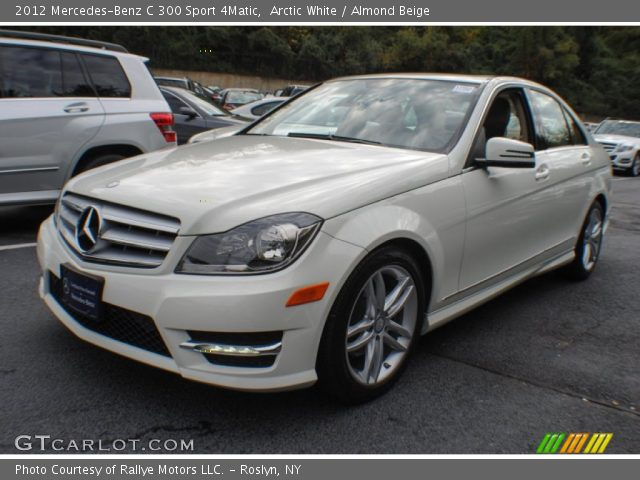 arctic white 2012 mercedes benz c 300 sport 4matic almond beige interior. Black Bedroom Furniture Sets. Home Design Ideas