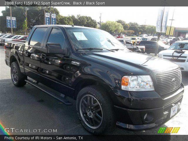 black 2008 ford f150 fx2 sport supercrew black sport interior vehicle. Black Bedroom Furniture Sets. Home Design Ideas