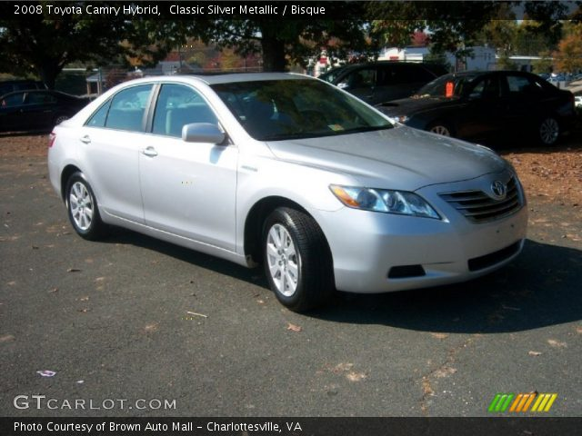 classic silver metallic 2008 toyota camry hybrid bisque interior vehicle. Black Bedroom Furniture Sets. Home Design Ideas