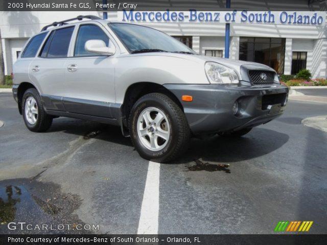 pewter 2003 hyundai santa fe gls gray interior vehicle archive 72766091. Black Bedroom Furniture Sets. Home Design Ideas