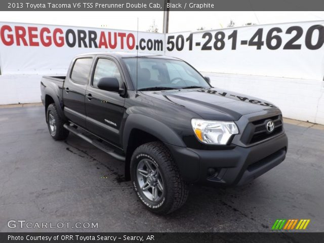 black 2013 toyota tacoma v6 tss prerunner double cab graphite interior. Black Bedroom Furniture Sets. Home Design Ideas