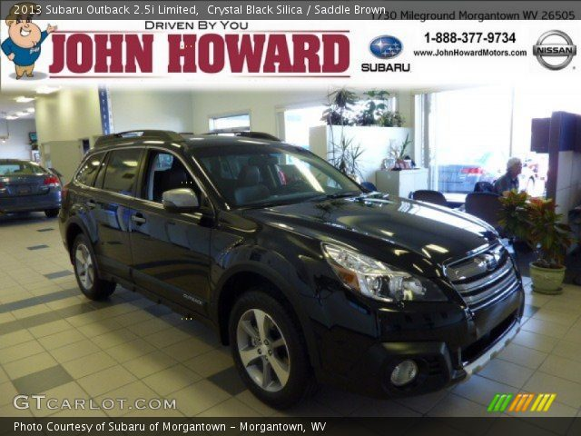 2013 Subaru Outback 2.5i Limited in Crystal Black Silica
