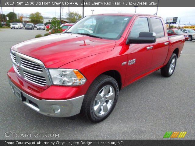 deep cherry red pearl 2013 ram 1500 big horn crew cab 4x4 black diesel gray interior. Black Bedroom Furniture Sets. Home Design Ideas