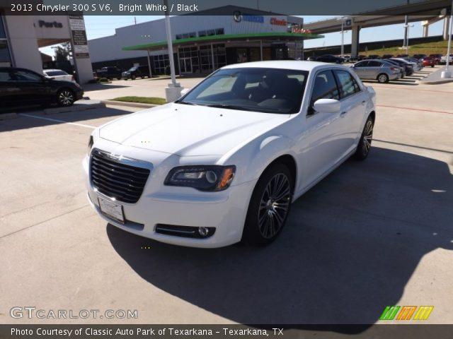 bright white 2013 chrysler 300 s v6 black interior vehicle archive 72902812. Black Bedroom Furniture Sets. Home Design Ideas