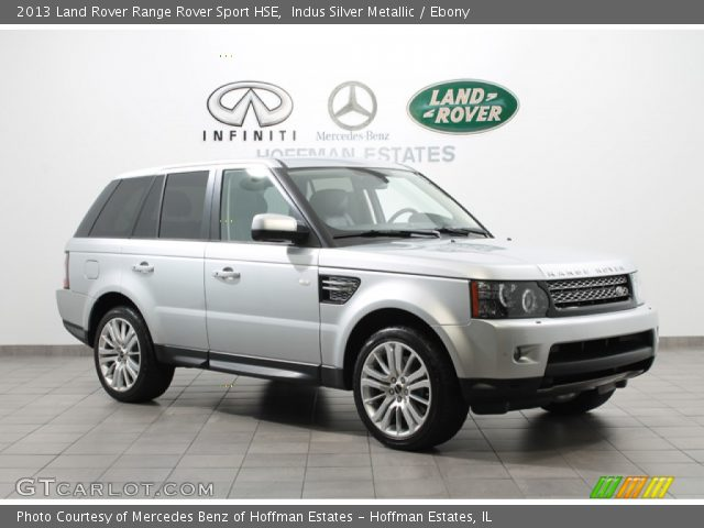 indus silver metallic 2013 land rover range rover sport hse ebony interior. Black Bedroom Furniture Sets. Home Design Ideas