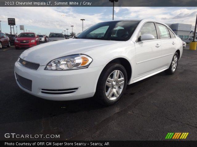 Summit White 2013 Chevrolet Impala Lt Gray Interior Vehicle Archive 72945711