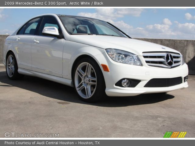 Arctic white 2009 mercedes benz c 300 sport black for 2009 mercedes benz c 300