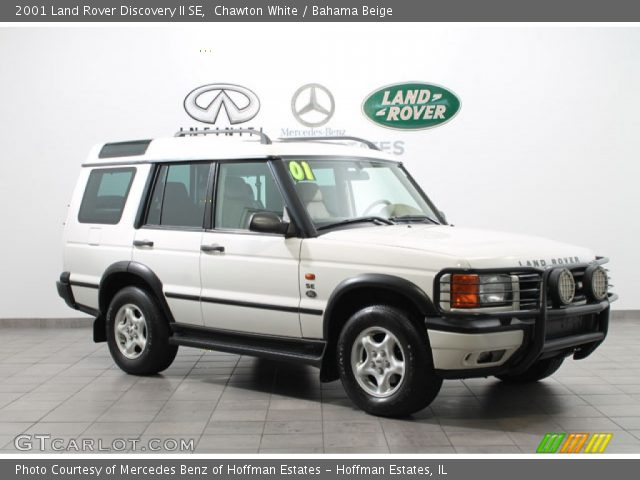 Chawton White 2001 Land Rover Discovery Ii Se Bahama Beige Interior Vehicle