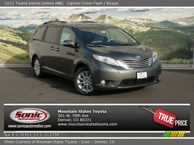 cypress green pearl 2013 toyota sienna limited awd. Black Bedroom Furniture Sets. Home Design Ideas