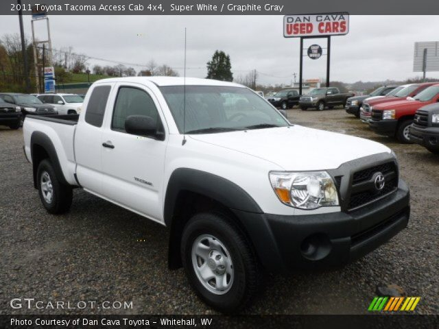 super white 2011 toyota tacoma access cab 4x4 graphite gray interior. Black Bedroom Furniture Sets. Home Design Ideas