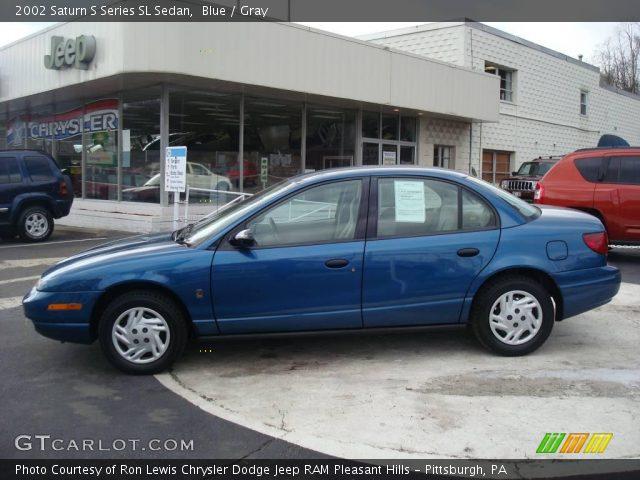 blue 2002 saturn s series sl sedan gray interior vehicle archive 7270456. Black Bedroom Furniture Sets. Home Design Ideas