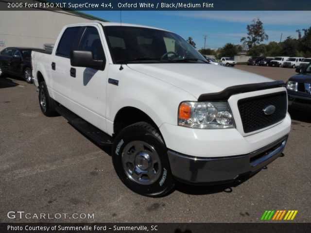 oxford white 2006 ford f150 xlt supercrew 4x4 black. Black Bedroom Furniture Sets. Home Design Ideas