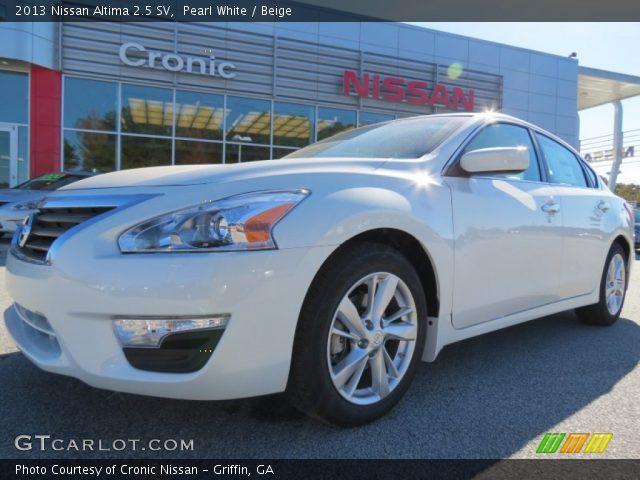 Pearl White 2013 Nissan Altima 2 5 Sv Beige Interior