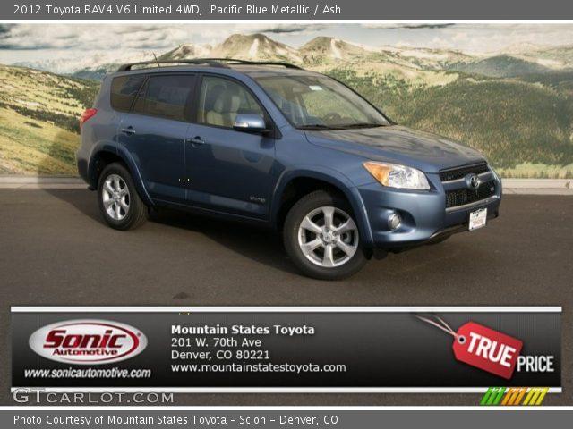 pacific blue metallic 2012 toyota rav4 v6 limited 4wd ash interior vehicle. Black Bedroom Furniture Sets. Home Design Ideas